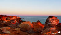 Photos d'Australie: Coucher de soleil sur les falaise de Broome
