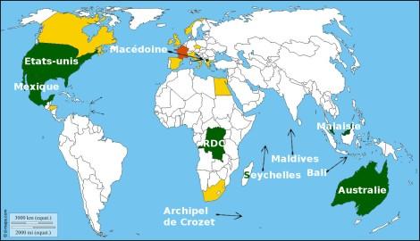 A nous deux nous comptabilisons 20 pays visités (ou du moins une partie…). Nous ne faisons pas de concours et ne comptons pas visiter chaque pays existant. Mais se rappeler de tous ces pays reste néanmoins très plaisant ! ☺