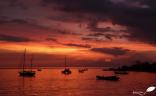 Coucher de soleil à Gili air (Indonésie)