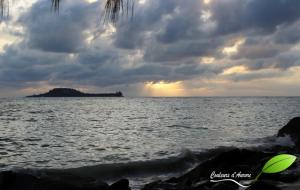Cousin Island depuis Praslin Island