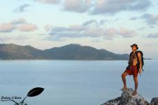 David au sommet de Cousin island