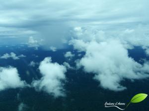 Nuages au-dessus de la jungle du congo