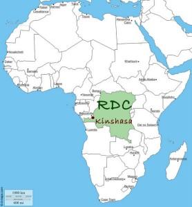 Carte d'Afrique et RDC