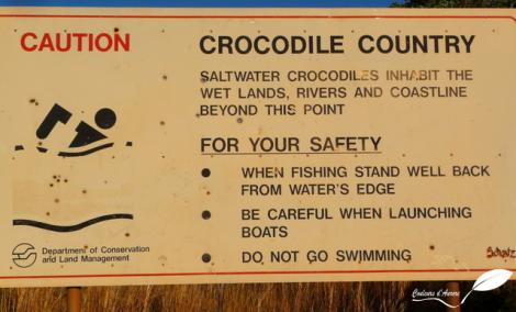 A partir de Broome nous sommes sur le territoire des crocodiles marins.