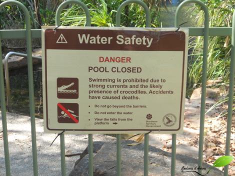 Cascade fermée pour cause de crocodile potentiel...