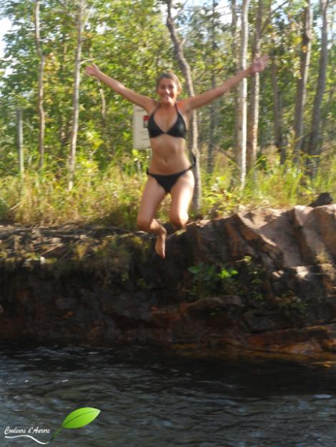 De l'eau, des sauts...