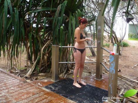 Première douche nomade