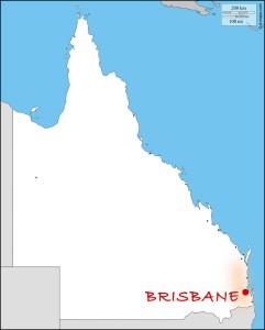 Carte du Queensland