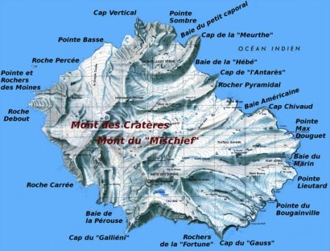 Carte de l'île de la Possession