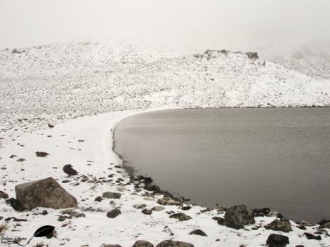 Paysage enneigé sur l'île de la Possession