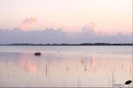Lever de soleil sur le lac de Bacalar (Quintana roo, Mexique)