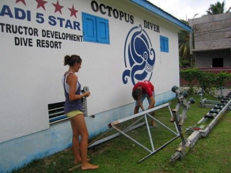 Construction du récif artificiel et DCP aux Seychelles