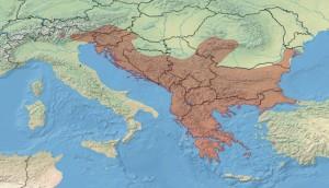 Distribution géographique de la vipère ammodyte