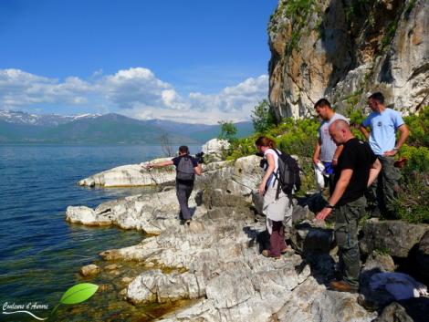 Une partie de l'équipe scientifique et deux journalistes scientifiques qui nous ont accompagnés pour ce séjour à Golem grad