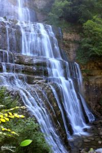Une des cascades du Hérisson: l'évantail