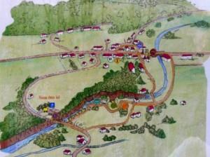 Plan du sentier des gorges de la langouette.