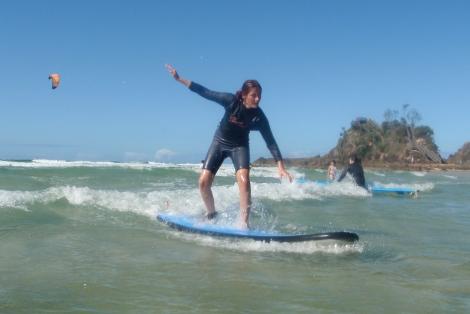 Cours de surf à Byron bay