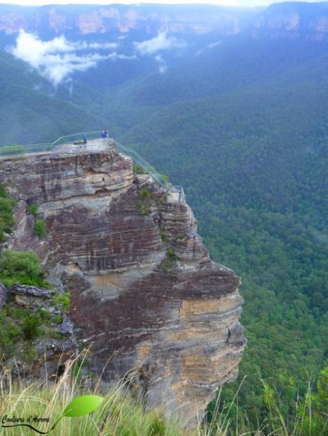 Point de vue vertigineux dans les Blue mountains