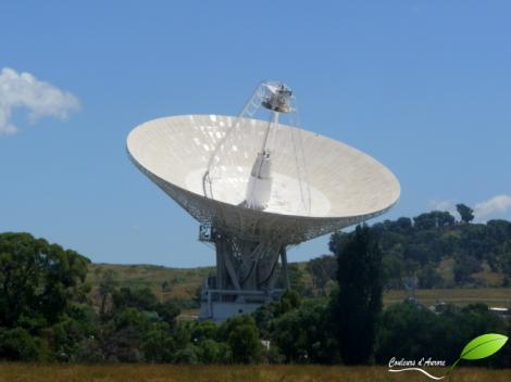 antenne du centre de l'espace