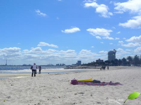 La plage à Melbourne