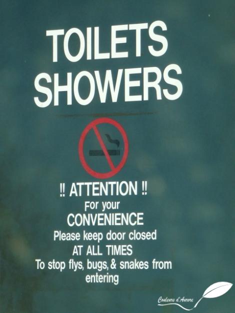 Attention dans les toilettes ...