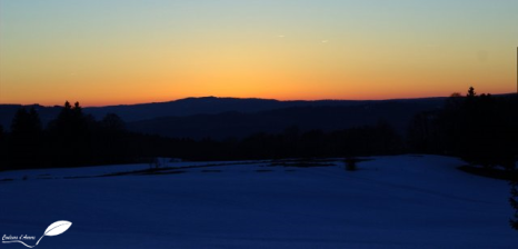 Déclinaison de couleurs lors du coucher de soleil