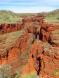 Vue d'une gorge depuis Oxer lookout