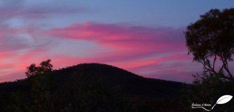 coucher de soleil à karijini