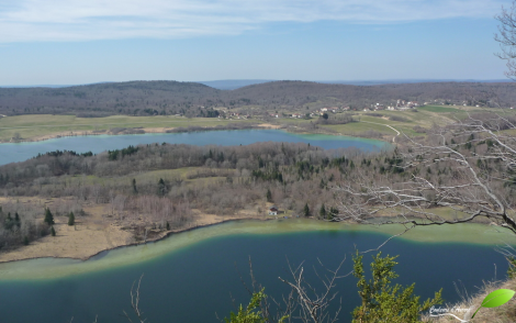 Vue sur la vallée des quatre lacs