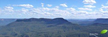 Vue sur les montagnes bleues depuis Echo point